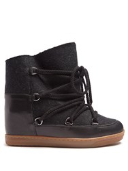 Isabel Marant Nowles Shearling Lined Apres Ski Boots Grey Multi