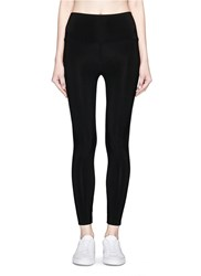 Norma Kamali Stretch Jersey Cropped Leggings Black