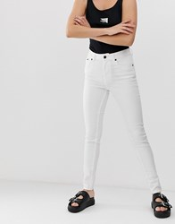 Cheap Monday 5 Pocket Skinny Jeans With Organic Cotton White