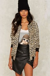 Motel Come As You Are Cheetah Bomber Jacket Animal