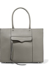 Rebecca Minkoff Mab Studded Textured Leather Tote Gray