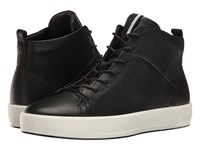 Ecco Soft 8 High Top Black Cow Leather Women's Lace Up Casual Shoes