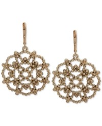 Lonna And Lilly Openwork Starburst Chandelier Earrings Gold