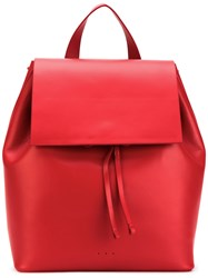Aesther Ekme Backpack Women Calf Leather Polyurethane One Size Red