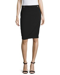 Laundry By Shelli Segal Pencil Skirt W Double Zip Details Black