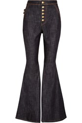 Ellery Ophelia High Rise Flared Jeans Dark Denim