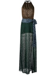 Cecilia Prado Knit Maxi Dress Women Viscose M Brown