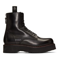 R 13 R13 Black Single Stack Boots