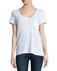 James Perse Short Sleeve Pocket Tee White