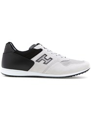 Hogan Panelled Lace Up Sneakers Grey