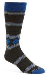 Men's Hook Albert Stripe Socks Blue