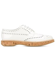 Church's Cork Sole Brogues White