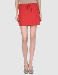 American Apparel Skirts Mini Skirts Women Red