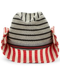 Sonia Rykiel Multi Striped Cotton Hat Red