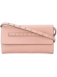 Red Valentino Studded Shoulder Bag Pink Purple