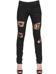 John Richmond Lace Inserts Cotton Denim Jeans