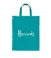 Harrods Medium Logoshopper Bag Blue