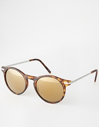 Monki Leora Round Sunglasses Tort