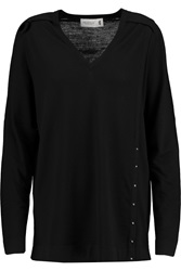 Pringle Embellished Merino Wool Sweater Black