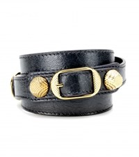 Balenciaga Giant Leather Bracelet Grey