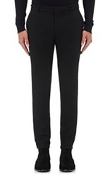 Balmain Men's Cotton Tuxedo Trousers Black