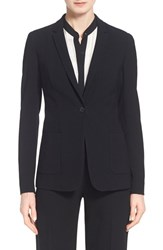 Women's Elie Tahari 'Wendy' One Button Jacket Black