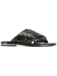 Givenchy Sequin Chain Flat Sandal Black