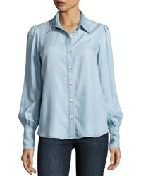 Frame Feminine Denim Blouse Rowan Blue