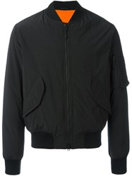 Aspesi Padded Bomber Jacket Black