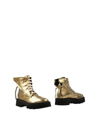 Bruno Bordese Ankle Boots Gold