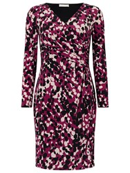Jacques Vert Petite Jersey Print Dress Purple
