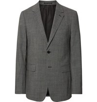 Theory Black Chambers Slim Fit Stretch Wool Suit Jacket Gray