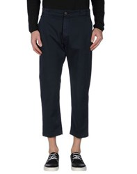 Truenyc. Trousers 3 4 Length Trousers Men Dark Blue