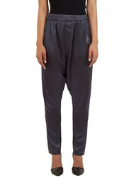 Baja East Satin Harem Pants Grey
