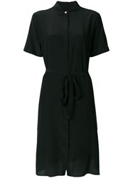 Paul Smith Ps By Fitted Shirt Dress Silk Black