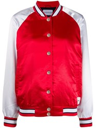 Calvin Klein Jeans Two Tone Bomber Jacket Red