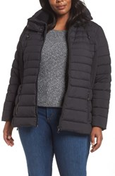 Bernardo Plus Size Micro Touch Quilted Jacket Black Black