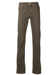 Kiton Slim Fit Jeans Nude And Neutrals