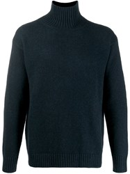 Laneus Turtleneck Knit Sweater Blue
