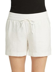 Lord And Taylor Linen Shorts White
