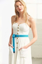 Urban Outfitters Preppy Braided Belt Blue