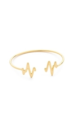 Sarah Chloe Heartbeat Bangle Bracelet Gold