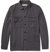 Remi Relief Patchwork Effect Cotton Shirt Jacket Charcoal