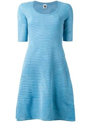 Missoni Scoop Neck Flared Dress Blue