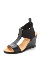 Maison Martin Margiela Neoprene Wedge Sandals Black Black Black