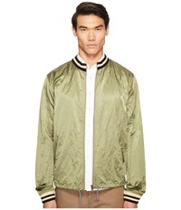 Vivienne Westwood Anglomania Lee Bomber Souvenir Shirt Green Men's Clothing