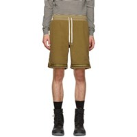 John Elliott Brown Corduroy Knit Shorts
