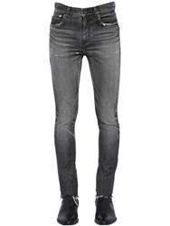 Saint Laurent 15Cm Low Rise Skinny Denim Jeans Black