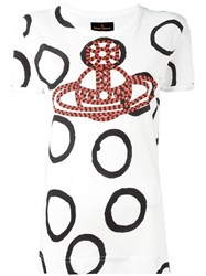 Vivienne Westwood Anglomania Orb Print T Shirt White