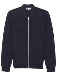 Reiss Charleston Full Zip Jumper Navy